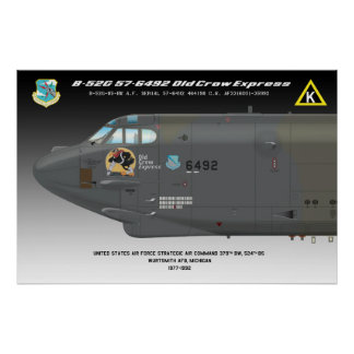 """24x36 B-52G """"Old Crow Express"""" Poster"""