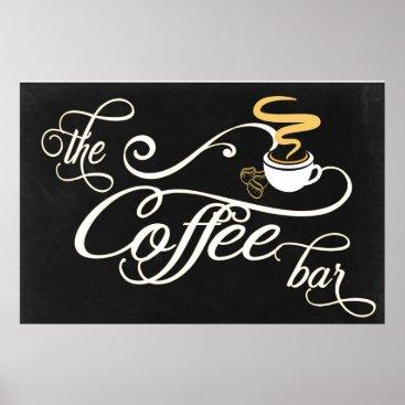 Coffee Themed 24x36 Chalkboard Coffee Bar Sign