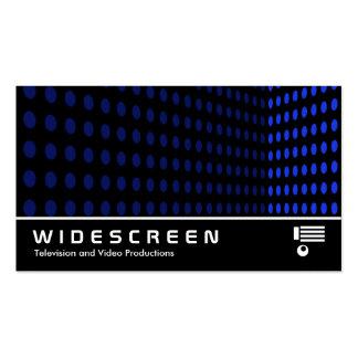 250 con pantalla grande - Esquina del tono - azul Tarjeta De Negocio