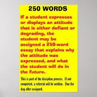 250 palabras - modificadas para requisitos particu póster