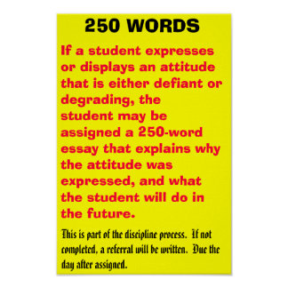250 words - Customized Poster