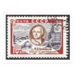 250o aniversario Mikhail Lomonosov de la postal