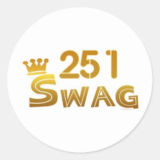 251 Alabama Swag Classic Round Sticker
