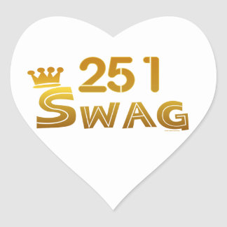 251 Alabama Swag Heart Sticker