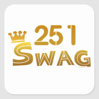251 Alabama Swag Square Sticker