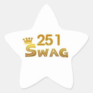 251 Alabama Swag Star Sticker