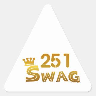 251 Alabama Swag Triangle Sticker