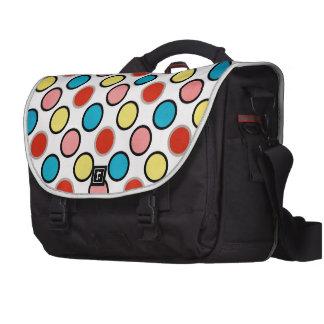 252__shellfish-paper-circles COLORFUL FUN POLKADOT Laptop Messenger Bag