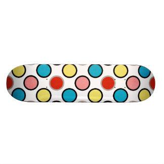 252__shellfish-paper-circles COLORFUL FUN POLKADOT Skateboard Deck