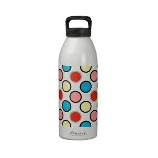 252__shellfish-paper-circles COLORFUL FUN POLKADOT Drinking Bottles