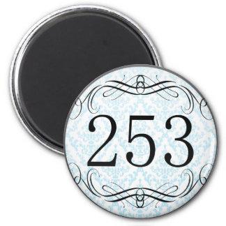 253 Area Code Fridge Magnet