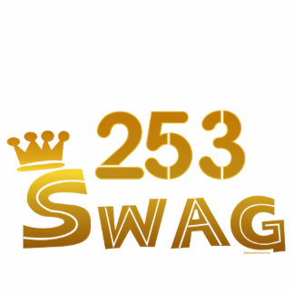 253 Area Code Swag Cutout
