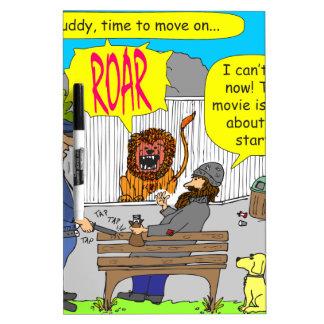 253 movie about to start cartoon dry erase board