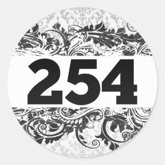 254 ETIQUETAS REDONDAS