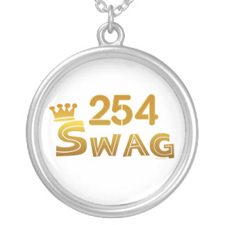 254 Texas Swag Silver Plated Necklace