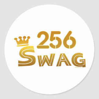 256 Alabama Swag Classic Round Sticker