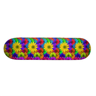257153 BRIGHT COLORFUL DAISY FLOWERS BACKGROUNDS P SKATEBOARD DECK