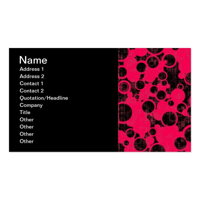 257__pink-urban-paper HOT PINK BLACK URBAN PAPER Business Card
