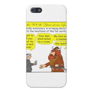258 dioses/dibujo animado ateo del humor en color iPhone 5 protectores
