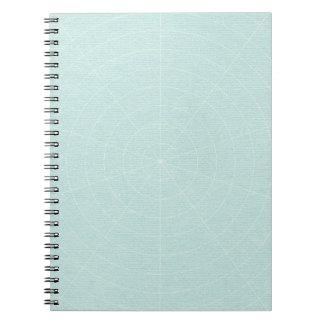 258 LIGHT TEAL BLUE SPIDERWEB PATTERN BACKGROUND W SPIRAL NOTE BOOK