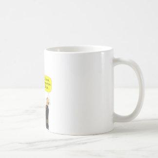 "259 Descartes ""I drink therefore I am"" cartoon Coffee Mug"