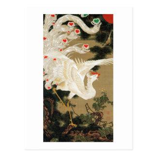 25. 老松白鳳図, 若冲 Pine-tree & Phoenix, Jakuchu Postcard