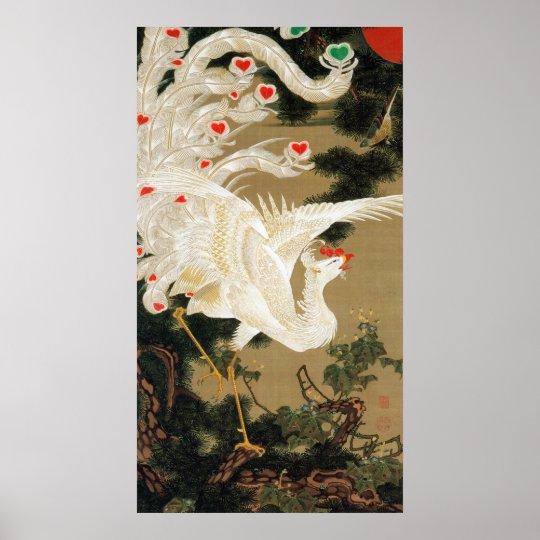 25. 老松白鳳図, 若冲 Pine-tree & Phoenix, Jakuchu Poster
