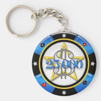 $25.000,00 Microprocesador de juego del casino del Llavero Redondo Tipo Pin