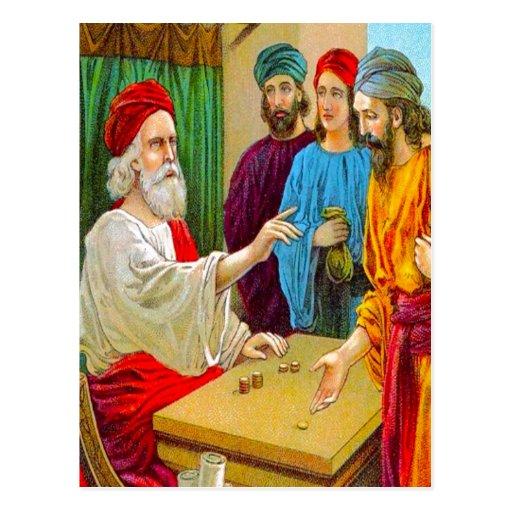 25:14 de Matthew - parábola 30 de la postal de los