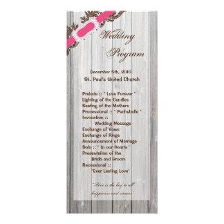 25 4x9 Wedding Program Barn Wood White Wash Rustic