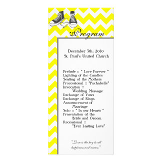25 4x9 Wedding Program Chevron Stripe Zig Zag Prin