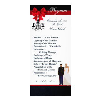 25 4x9 Wedding Program Marine Hispanic Uniform