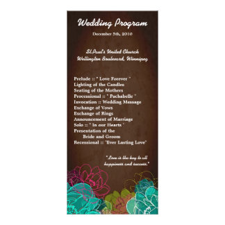 formal event program template