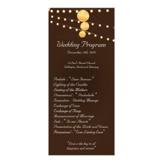 25 4x9 Wedding Program Paper Lanterns on Brown
