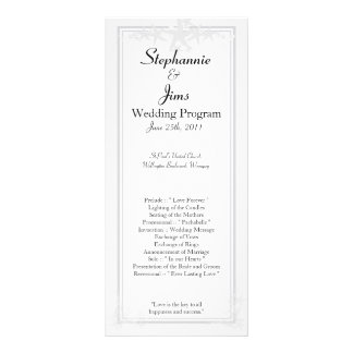 25 4x9 Wedding Program Summer Love and Sea Shells