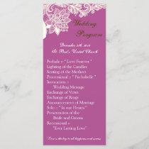 25 4x9 Wedding Program Vintage Victorian Lace Orch