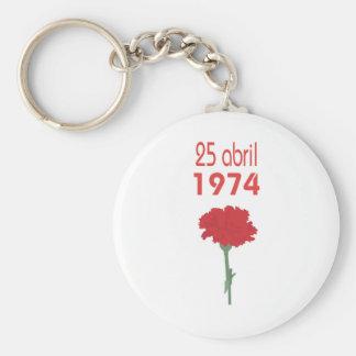25 Abril Basic Round Button Keychain