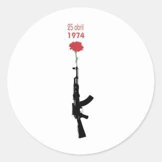 25 Abril Classic Round Sticker