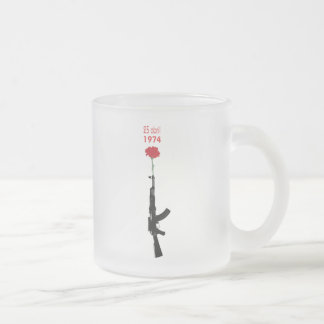 25 Abril Frosted Glass Coffee Mug