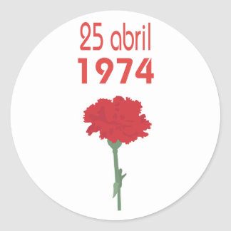 25 Abril Etiquetas Redondas