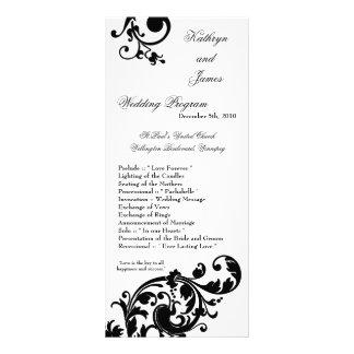 25 afiligranados florales blancos del negro del pr tarjetas publicitarias a todo color