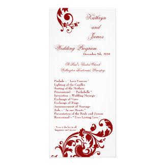 25 afiligranados florales del rojo carmesí del pro tarjetas publicitarias a todo color