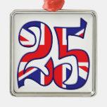 25 Age UK Square Metal Christmas Ornament
