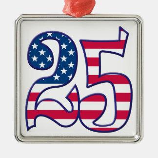 25 Age USA Metal Ornament