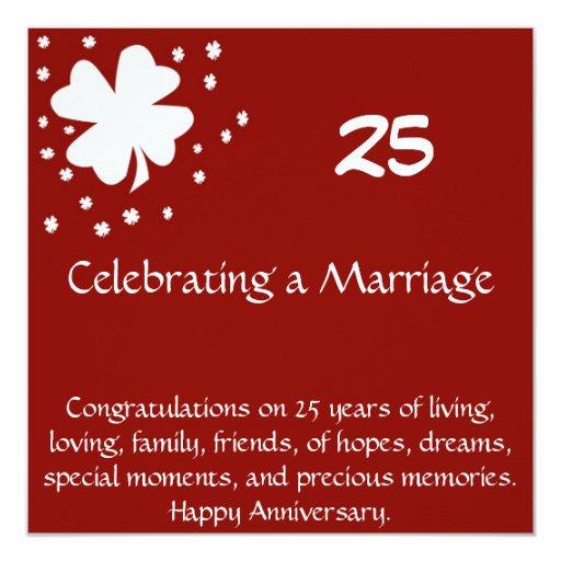 25 Anniversary Card Announcement