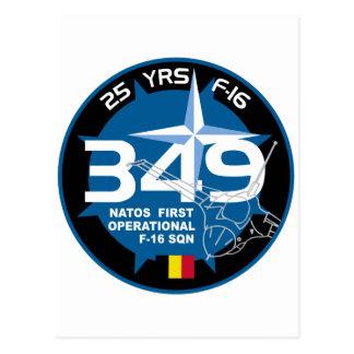 25 años 349 de la OTAN primera de remiendo Tarjeta Postal