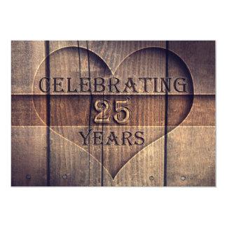 """25 años de boda de invitaciones únicas del invitación 5"""" x 7"""""""