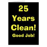 ¡25 años de buen trabajo! v2 tarjeta de felicitación