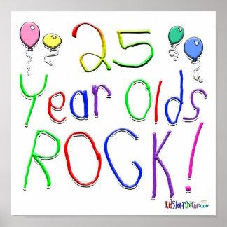¡25 años de la roca poster