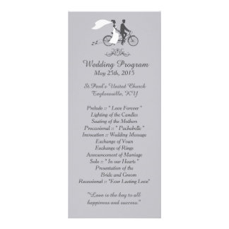 25 Bicycle for Two Wedding Programs Rack Cards